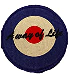 A Way Of Life Quadrophenia Q Embroidered Patch (Blue/Red/White)