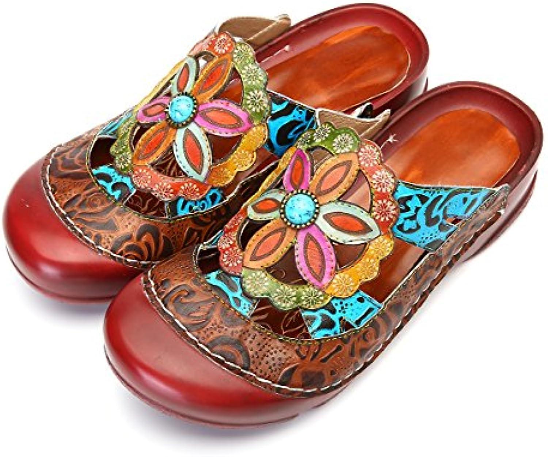 Gracosy Pantofola in Pelle Scarpe da Donna Donna Donna Estivi Mocassini Sandali Piatti Slip-On Estiva Slipper di Oxford Vintage... | Exquisite (medio) lavorazione  | Scolaro/Signora Scarpa  699441