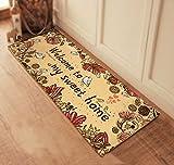 BXT 45x 115cm Welcome Bird Eingangstür Matten Fleece Boden Teppiche für Wohnzimmer rutschfeste Badezimmer Küche Schlafzimmer Mats Yellow Bird