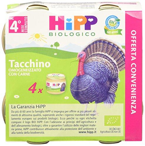 Hipp Omogeneizzato Multipack Tacchino 24 vasetti da 80 g
