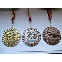 Medaillen Schützen Schießen Pokal Medaillen 70mm 3er Set Deutschland-Band Turnier Emblem