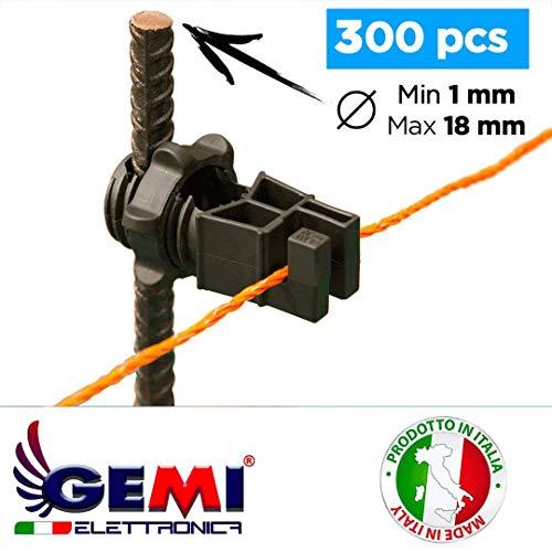300 Aisladores para postes de Hierro para Pastor eléctrico Cerca eléctrica Gemi...