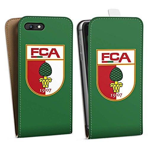 Apple iPhone X Silikon Hülle Case Schutzhülle FC Augsburg Fanartikel Fußball Downflip Tasche weiß