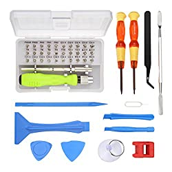 MOHOO Reparatur Werkzeug 45 In 1 Reparatur Tool Kit Setschraubendreher set klein schraubendreher set mini mobilen Reparatur Tools schraubendreher set für Handy Laptop Tablet PC etc.