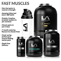 LA Muscle Amazon Special Fast Muscles Stack: Muscle Gains In Just 2 Days Amazing Value Fast-Acting Muscle Supplements For Beginners And Advanced Trainers. Everything You Need Is Here With Protein, Creatine, Anabolic Muscle Builders & The Best Pre-Workout On The Market .Very Fast Gains And in Muscle & Strength Special Amazon Price Buy Now Before Prices Go Up RRP £255 (Vanilla)