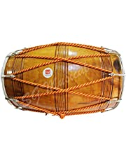 SG Musical Punjabi Bhangra Dhol, Natural Color, Kacha Pakka Sheesham Wood