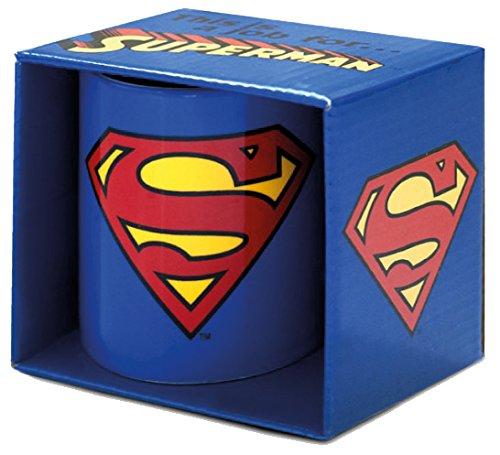 Logoshirt-Tazza Superman-DC Comics-Superman Logo tazza da caffè-blu-Design originale concesso su licenza