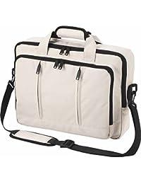 Halfar - Sac sacoche bandoulière transformable sac à dos - 1802765 - beige - pour ordinateur portable jusqu'à 15-16 pouces