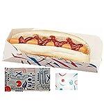 50 Disposable Hot Dog Trays/Boxes - Medium (Fast Food/Takeaway Packaging) BRITISH FOOD SHOP (BFSHD50) 2