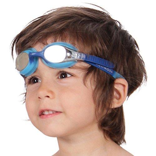 AqtivAqua Gafas de natación para niños niño y niña (de 2 a 12 años) (Fucsia/Blanco ~ FuchsiaShock)