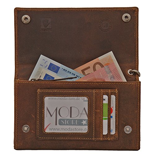 ... Greenburry Vintage portafoglio pelle 17 cm marrone marrone ...