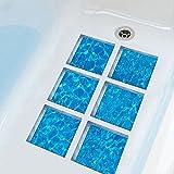 LJP Bodenfliese Aufkleber Anti-Rutsch-Abnehmbare Badewanne Dusche Fußmatte Badewanne 6-tlg