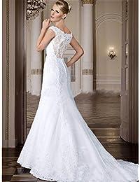 2ac463f983a4 LUCKY-U Vestito da Sposa Donna Vestito da Sposa Lungo Elegante Festa  Banchetto Notturno Abiti