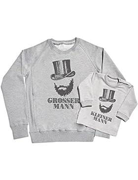SR - Grosser Mann & Kleiner Mann Vater & Baby Sweater Geschenkset - Vater & Baby Sweatshirt Geschenkset