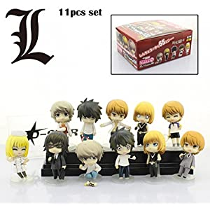 11pcs Cute Death Note L Yagami Raito Mello Boxed PVC Action Figure Collection Model Dolls Toys Gift (11pcs set) by Captin Liu 5