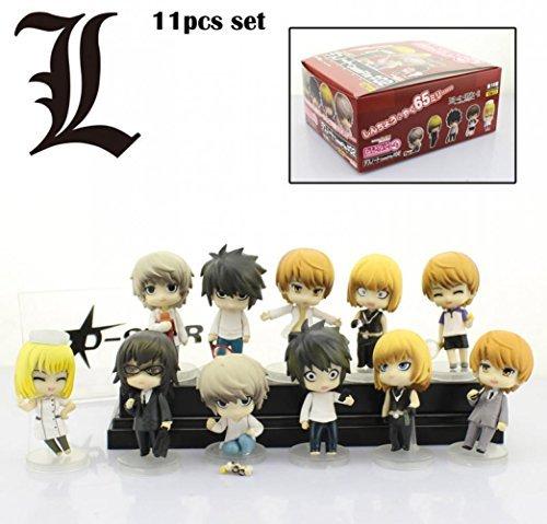 11pcs Cute Death Note L Yagami Raito Mello Boxed PVC Action Figure Collection Model Dolls Toys Gift (11pcs set) by… 1