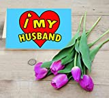 TiedRibbons Combo Gift for Husband | Valentine day special gifts | Valentines gifts for Men Purple Tulip Flowers Bunch with Valentine's Special Greeti best price on Amazon @ Rs. 549