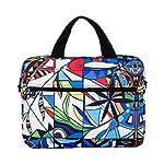 BevAve® 14-Zoll Laptop-Tasche Notebook-Tasche, Canvas Designer-Tasche, Design Sleeve. 3 in 1 Tragekomfort: Handtasche, Schultertasche, Trolley-Halterung