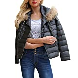 Honestyi 2018 Damen Winter Mode Warm Top Damen Winter Warm Zipper Lederjacke Parka Outwear Mantel Mantel Produkt De(Schwarz,L)