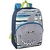 Kids Animal Friends Critter Backpacks For Boys & Girls With Reinforced Straps (SHARK)