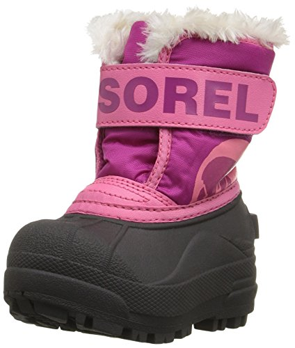 Sorel Childrens Snow Commander Unisex-Kinder Schneestiefel, Pink (Tropic Pink/Deep Blush), 24 EU (Tropic Kurze)