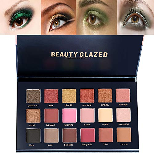 Paleta de maquillaje Beauty Glzaed con purpurina,