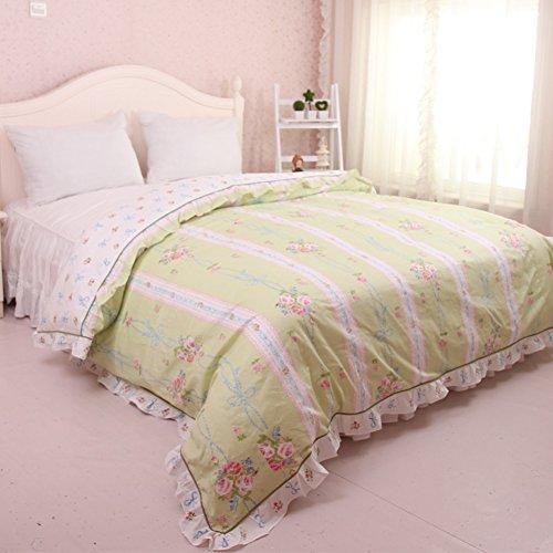 GX&XD Ganzjahres Atmungsaktive Baumwolle Bettbezug, Tröster cover gedruckt Allergiker-geeignet Fade beständig Bettwäscheset-F 150x200cm(59x79inch) -