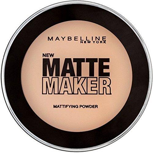 Maybelline Matte Maker Puder Nr. 35 Amber Beige, nimmt überschüssiges Öl auf der Haut auf, für einen perfekt mattierten Teint, angenehmer Tragekomfort, langanhaltend, 16 g (Matt Foundation Beige)