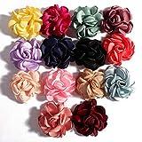 keeldsjf 20 Unids/Lote 6 Cm 14 Colores Vintage Boutique Artificial Suave A La Parrilla Flores para Niños Accesorios para El Cabello Diademas