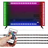 albrillo RGB LED iluminación de fondo de la televisión con mando a distancia, 50cm
