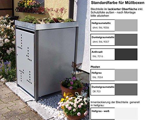 *Mülltonnenverkleidung Mülltonnenbox Müllboxen Metall*