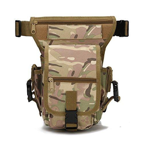 Ajusen Taktische Gürteltasche Sport Hüfttasche Military Hüfttasche Beintasche für Reisen Radfahren Bergsteigen Praktische Taktische Hüfttaschen 3