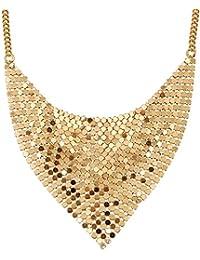 lureme®europeo Moda Pearl Oro Geometría Collar (01003934)
