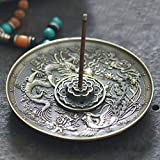 Vintage incenso incenso bronzo Titolare squisito Dragon Phoenix porta incenso tibetano per cono bastone bastone di incenso rotolo Decorazione Della Casa di buddista Natale Regalo Di Compleanno