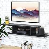 FITUEYES Madera Mesa Flotante para TV Soporte de Pared 126 x 25cm Negro DS211801WB