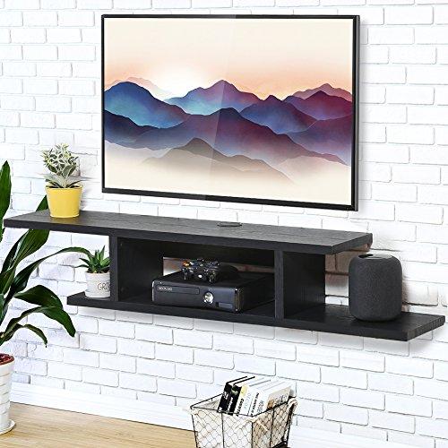 FITUEYES Console Multimédia Murale Etagère pour Composant Rangement TV pour DVD CD AV Equipement DS211801WB