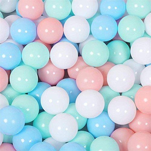100 Stück Umweltfreundlich Bunt Macaron Ball Weich Kunststoff Ozean-Kugel Komisch Baby Kinder Haustiere Schwimmbecken Spielzeug Wasser Schwimmbad Ozean Welle Ball (7 cm) -