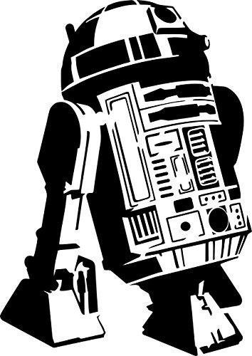 """Plantilla de """"R2D2"""" Star Wars de material Mylar, A4 297 x 210 , decorativo para pintar con spry, esponja..."""
