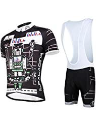 Maillot de vélo à vélo pour hommes avec bavoir Shorts Tissu en polyester Anti-UV à sec et respirant T-shirt à manches courtes à manches courtes Maillot de vélo Vêtements de vélo