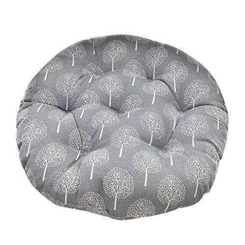 LOLIANNI Baum gedruckte Stuhlkissen Runde Baumwolle Polsterung weich gepolsterte Office Home Auto Sitzkissen -