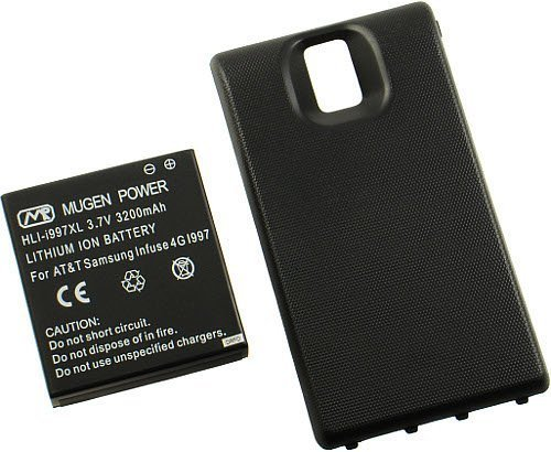 Mugen Power NEW MUGEN 3200mAh XL EXTENDED BATTERY + BACK DOOR FOR SAMSUNG FOCUS i917 PHONE