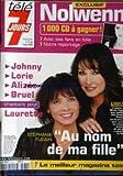 tele 7 jours no 2231 du 01 03 2003 nolwenn stephanie fugain au nom de ma fille laurette evelyne thomas johny lorie alizee bruel
