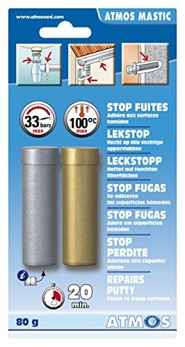 ATMOS 1102kitt Pate Reparatur 80g, grau/elfenbeinfarben, 2-teiliges Set (Organics Reparatur)