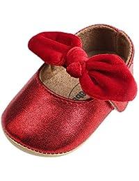 Lacofia Zapatos Antideslizantes Primeros Pasos para bebé niñas con Suela Bailarinas ...