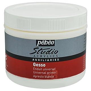 Pebeo Studio Acrylics 500 ml Gesso, Acrylic, Titanium white, 10.00 x 10.00 x 9.00 cm