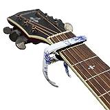 MUKE Metall Gitarre Kapodaster Clamp Schnellwechsel Leicht Zink Legierung Kapo für 4 String und 6 String Akustik Gitarre, Westerngitarre, Konzertgitarre, E-Gitarre, Klassische Gitarre, Ukulele, Banjo Capo (Blau und Weiß)