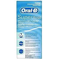 Oral-B, Filo interdentale Superfloss, 4 confezioni da 50