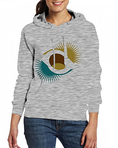 Custom Womens Hooded - Design A chestnut in the shell Hoodies Grey