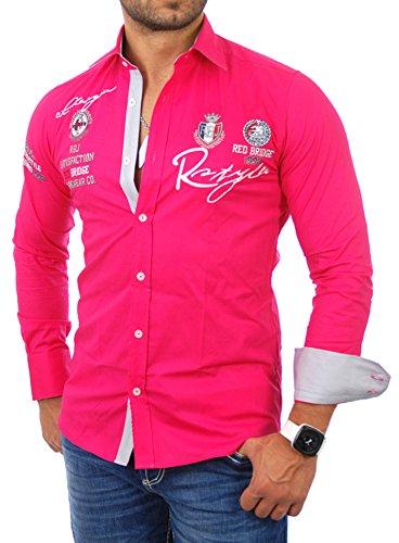 Redbridge - Camisa de vestir - para hombre rosa Small