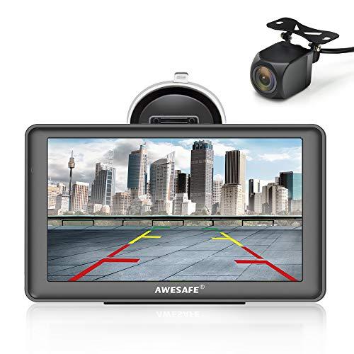 AWESAFE Navigation GPS 7 Zoll Touchscreen Auto Navigationsgerät mit Lebenslang Karten-Updates (Europa) für 58 Länder und Taxi KFZ Navi